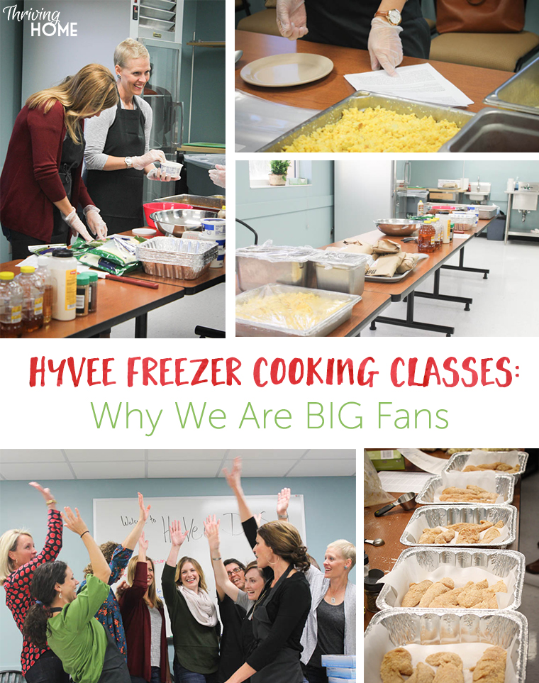 HyVee freezer meal cooking class--why we are big fans!
