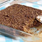 Baked Chocolate Steel Cut Oatmeal: A super health, easy, freezable breakfast.