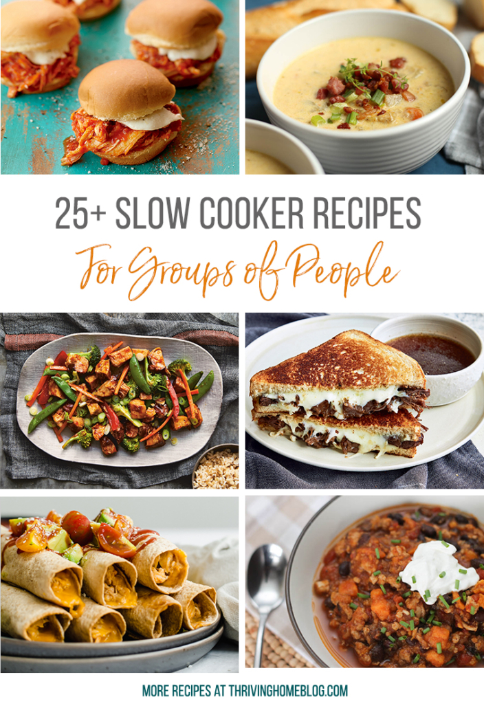 slow cooker and crock pot Recipes for groups of people