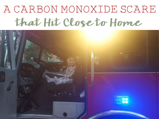 A carbon monoxide scare that hit a little too close to home.