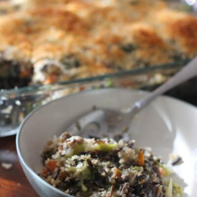 Broccoli and Wild Rice Casserole {Freezer Meal}