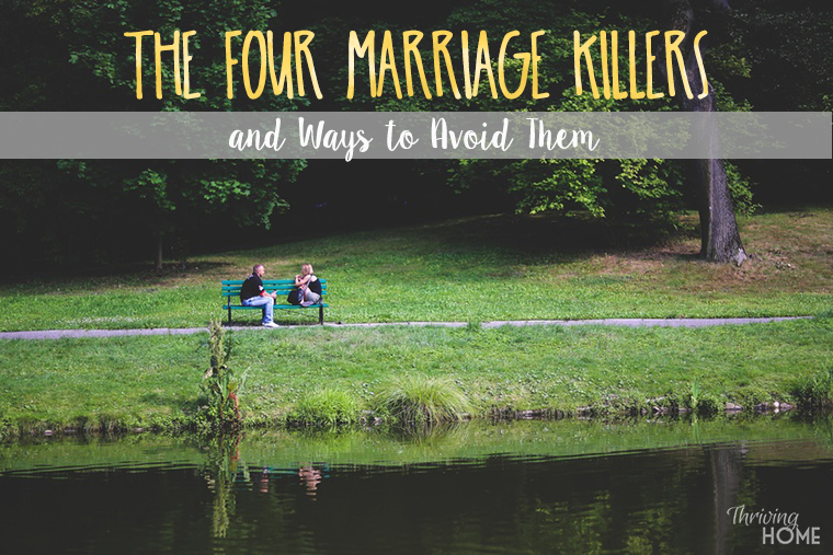 After studying over 2,000 married couples, this researcher identified four patterns that predict a failing relationship. Learn about these marriage killers and ways to avoid them.