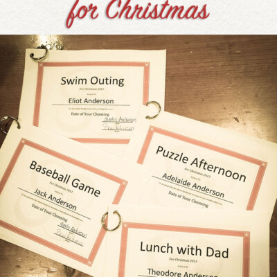 Giving the Gift of Time To Our Kids for Christmas