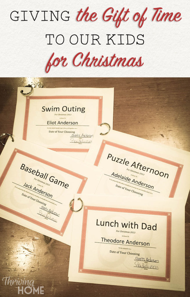 Here's a gift idea that won't get thrown away or easily forgotten. This simple gift can bring you closer to your children this Christmas and create lasting, meaningful memories.