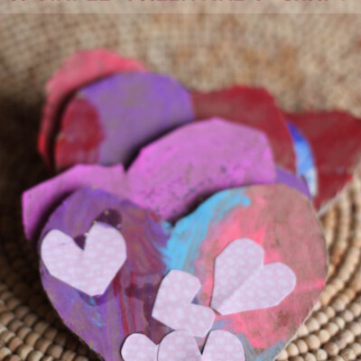 Cardboard Cookies--An Easy Valentine's Day Craft for Kids