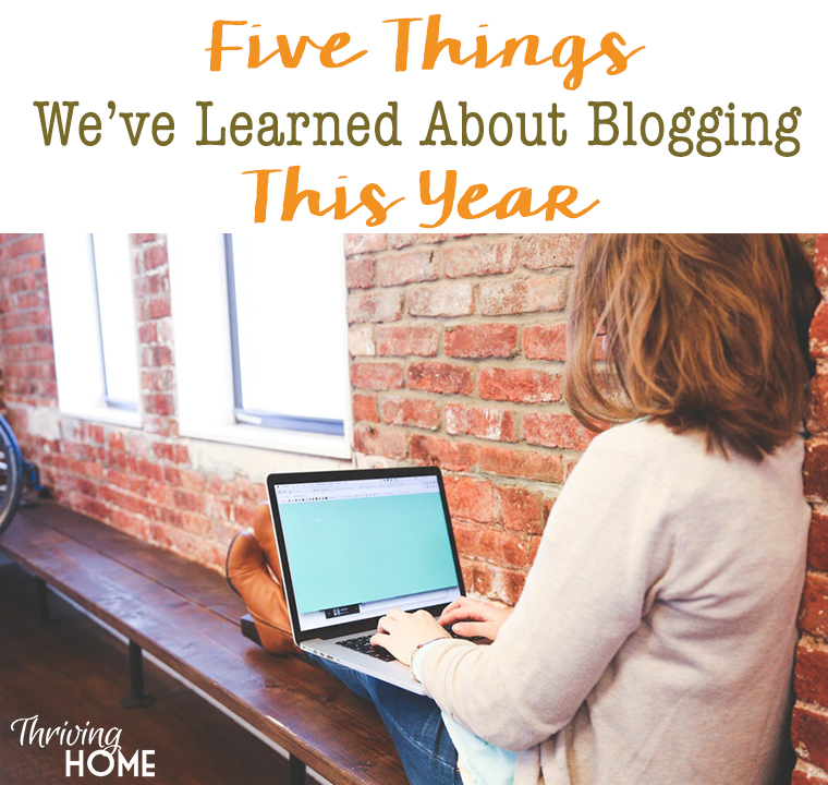 Five Things We've Learned About Blogging