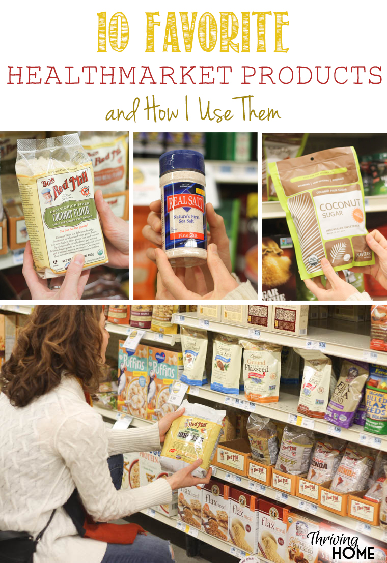 I find that I get the best bang for my buck (and for my health) with these 10 favorite HealthMarket products. See which ones regularly make my grocery list!