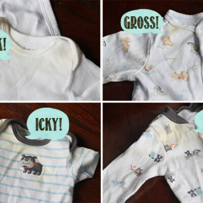 How to Get Yellow Stains Out of Stored Baby Clothes