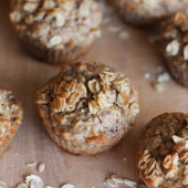 Caramelized Banana Oat Muffins {Freezer Meal}