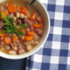 Cheap, rich and savory, and good for you too! This Ham and Bean Soup is a perfect winter comfort food. #freezermeal #realfood