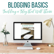 Blogging Basics lays out 15 simple steps toward earning income from a blog. Each short chapter gives one action point for laying a solid and successful foundation for your site. Mompreneurs, Rachel and Polly, built their blog Thriving Home five years ago and now both have generous part-time incomes and flexibility with their families as a result. This might be the cheapest and most valuable blogging resource out there for new mom bloggers!