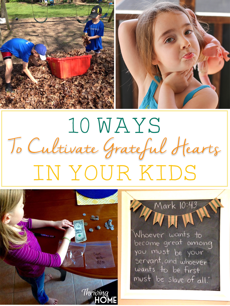 One of the greatest parenting struggles in our culture might be summed up in one word: entitlement. How do we combat that at home? Here are 10 easy ways to start cultivating grateful hearts in your kids.