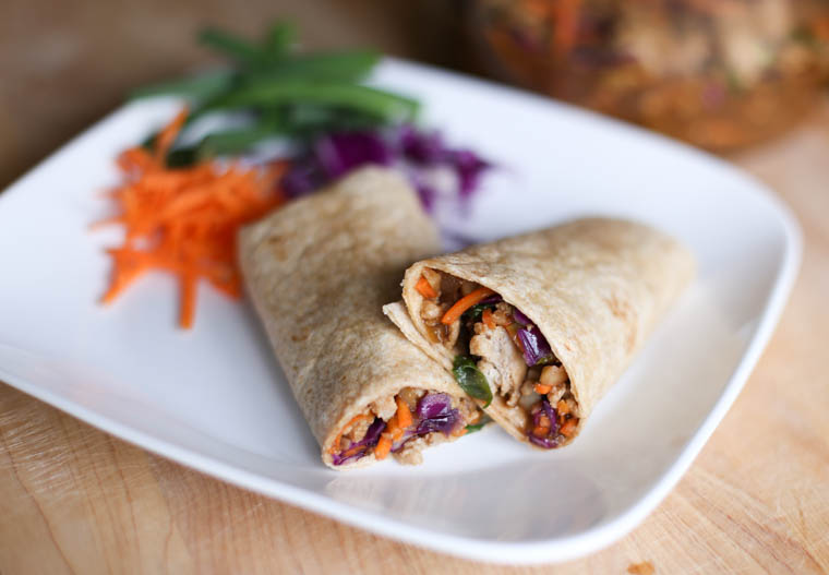 Asain Chicken Wraps-6