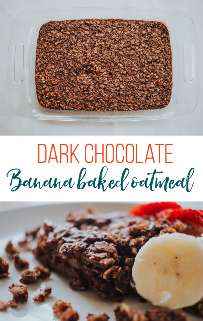 This dark chocolate banana baked oatmeal is sure to be a crowd pleaser! With fresh ingredients and a rich, chocolatey taste, this dish pairs perfectly with fresh fruit. You won't even be able to taste the sneaky spinach!