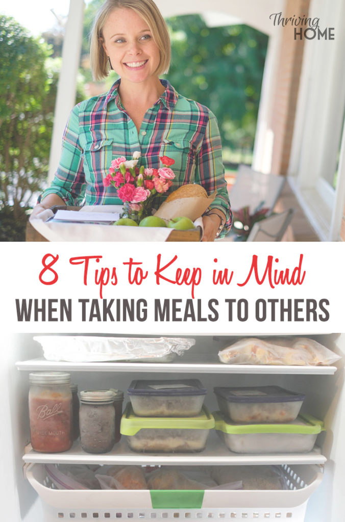When taking meals to others, keep these helpful tips in mind!
