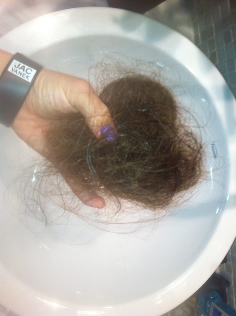 First Time Losing Hair - Post Shower