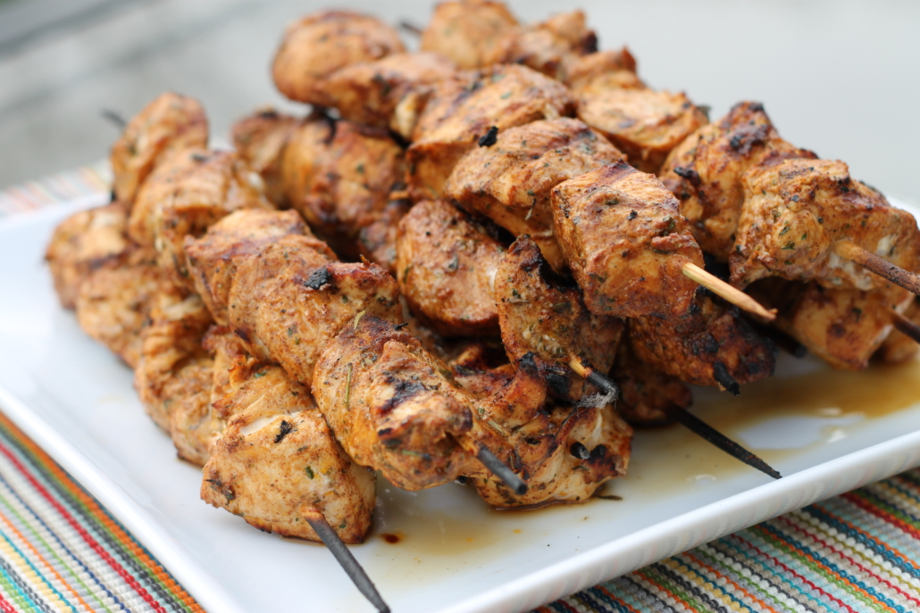 Southwest Grilled Chicken Kabobs