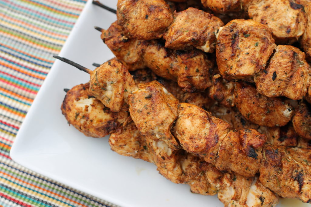 For juicy, tender bite-sized chicken that will please a crowd try these Southwest Grilled Chicken Kabobs.
