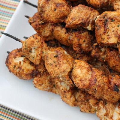 Southwest Grilled Chicken Kabobs {Freezer Meal}