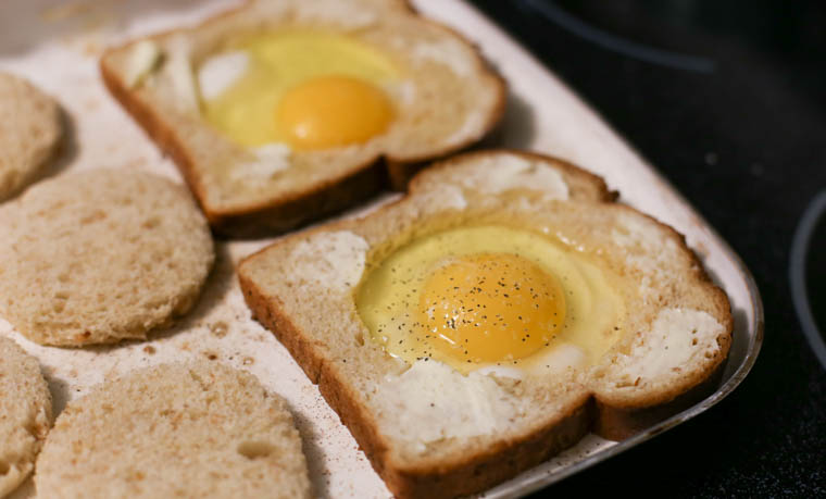 Try this family favorite: Eggs in a Hole! A seriously fun and nutritious way to start your day.