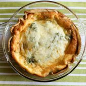 Spinach and Bacon Quiche {Freezer Meal}