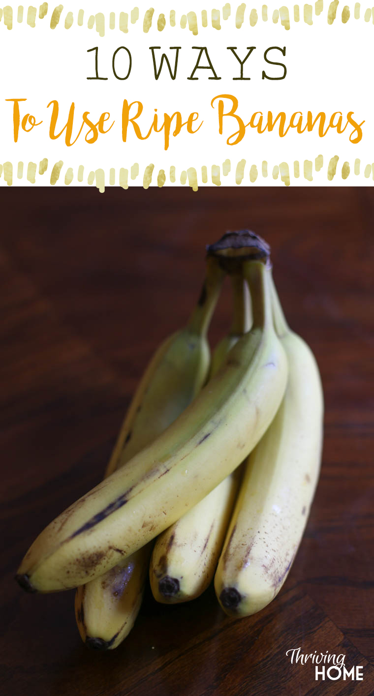 10 great ways to use ripe bananas. Never throw them away again!