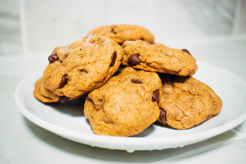 Whole wheat cookies on a plate