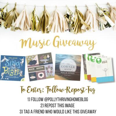 Big Music Giveaway (on Instagram)