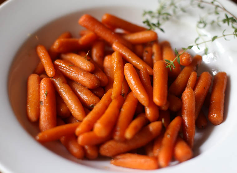 sweet and savory roasted carrots in a bowl