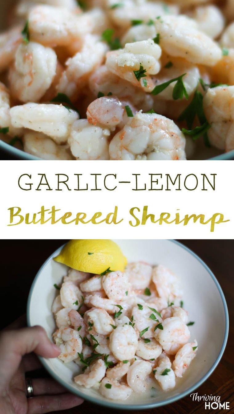 garlic lemon buttered shrimp