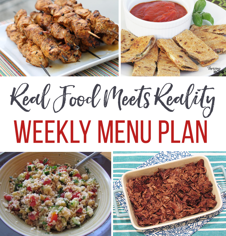 Real Food Menu Plan: August 29-September 3