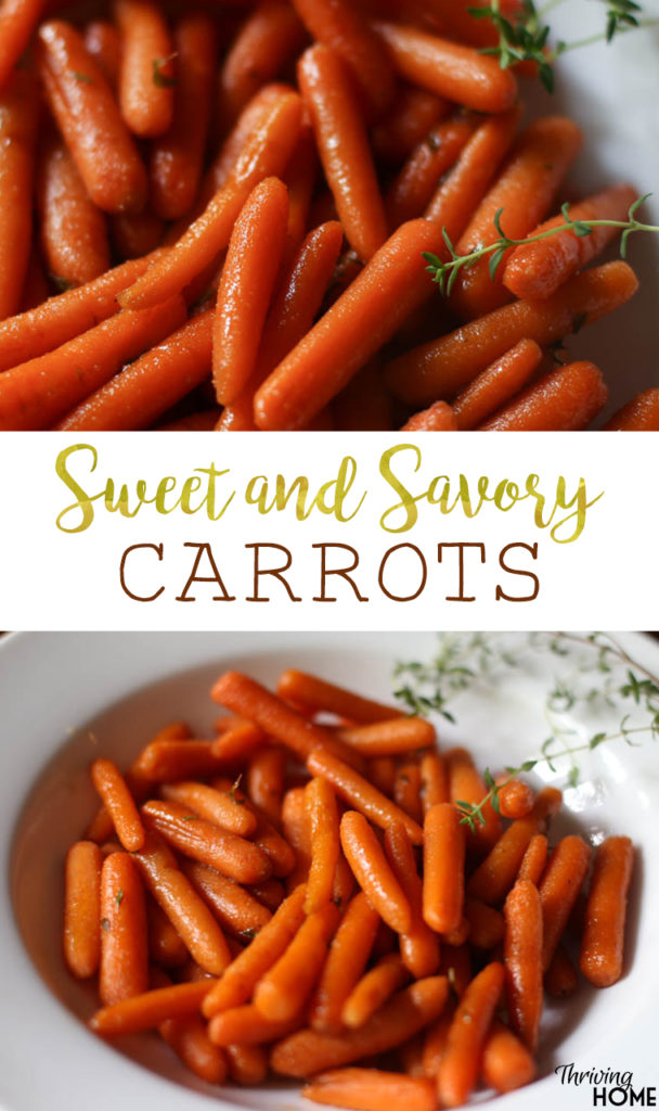 sweet and savory carrots
