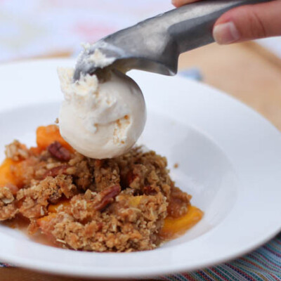 Hello Peaches! Make This Pecan Peach Crisp Now.