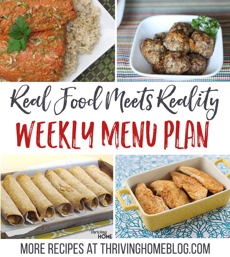 Real Food Menu Plan for September 26-October 3. Packed with healthy, kid-friendly meal ideas!