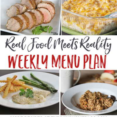 """Real Food Meets Reality"" Menu Plan: October 3-9"