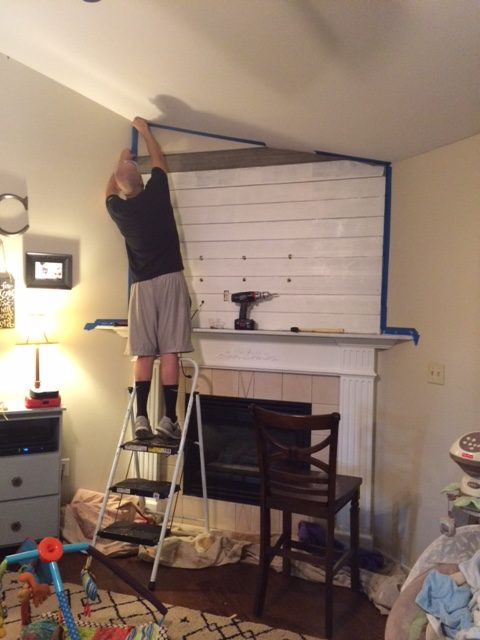Shiplap going up!