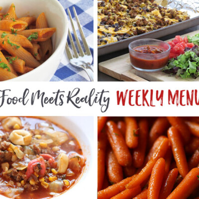 """Real Food Meets Reality"" Menu Plan: October 17-23"
