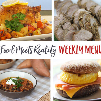 """Real Food Meets Reality"" Menu Plan: October 31-November 6"