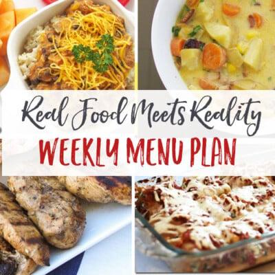 """Real Food Meets Reality"" Menu Plan: October 10-16"