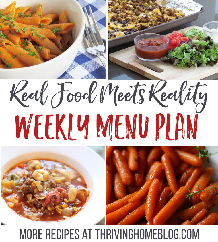 Real Food Menu Plan for October 17-23: Easy and delicious meal ideas that the whole family will love. Posted every Friday at Thriving Home.