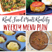 Real Food Menu Plan for October 24-30: Easy and delicious meal ideas that the whole family will love. Posted every Friday at Thriving Home.