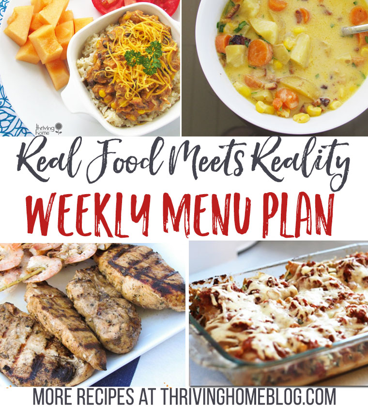 Real Food Menu Plan: October 10-16--Easy, delicious, and healthy recipes for the whole week!