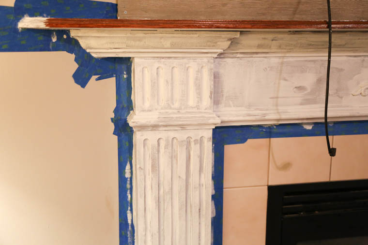 oil based primer on oak mantle