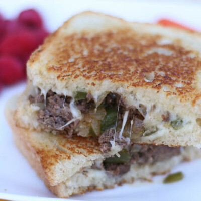 Freezer friendly ground beef philly cheesesteak sandwiches