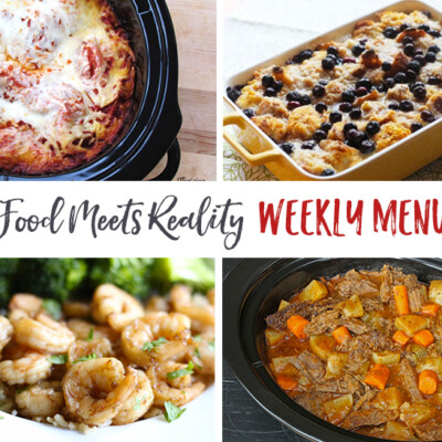 """Real Food Meets Reality"" Menu Plan: November 14-20"