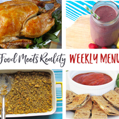 """Real Food Meets Reality"" Menu Plan: November 21-27 (Thanksgiving!)"