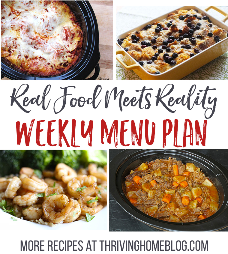 Real Food Menu Plan for November 14-20: Easy and delicious meal ideas that the whole family will love. Posted every Friday at Thriving Home.