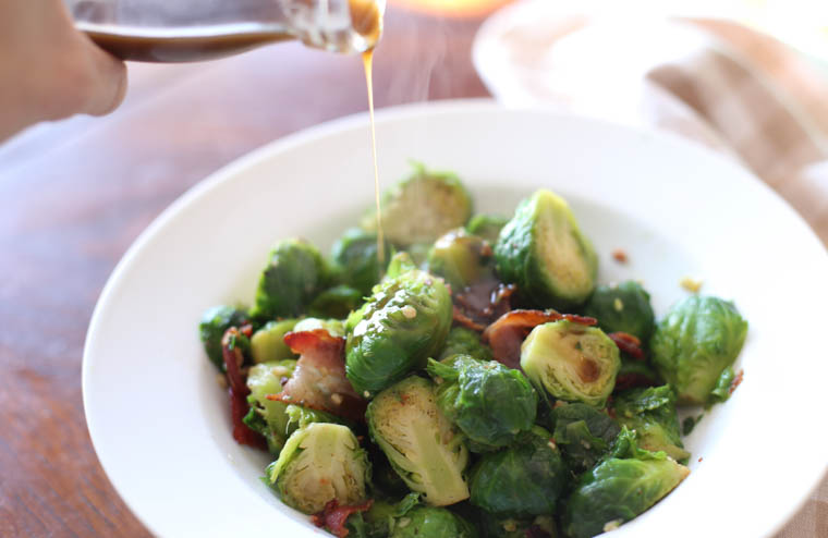 Bacon and Brussel Sprout Salad. A fabulous side dish (or lunch!) that is full of big flavor.