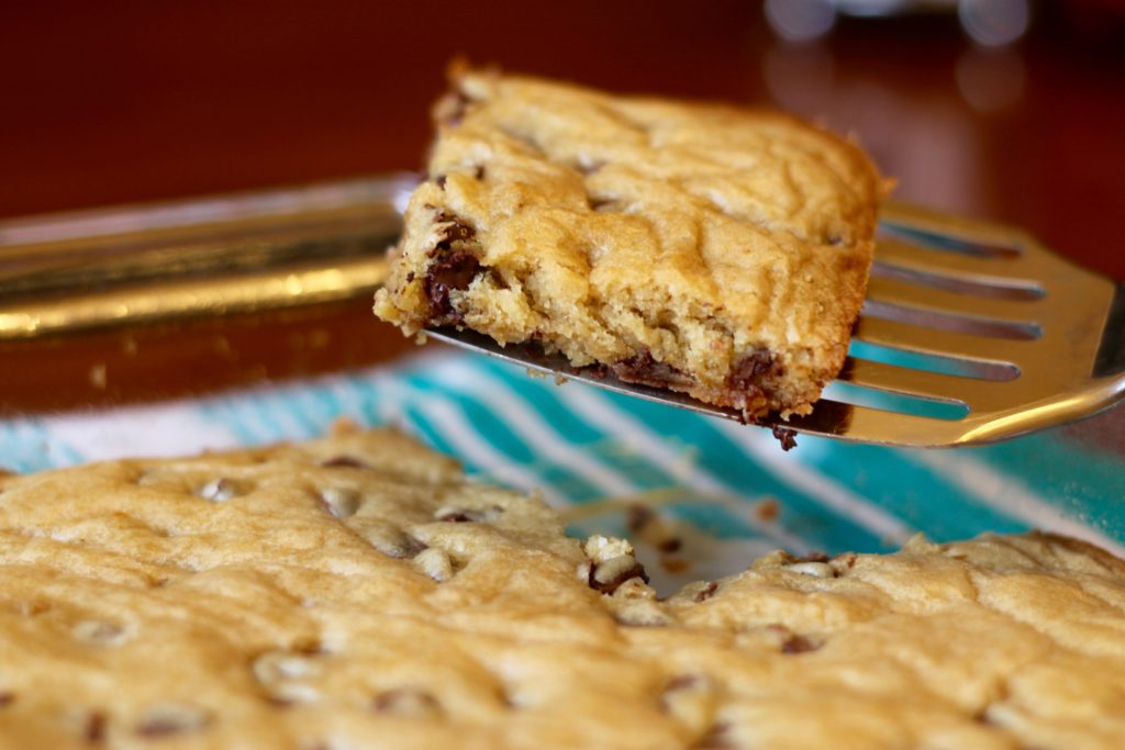 Imagine a cross between brownies and chocolate chip cookies. With basic ingredients in any pantry and a recipe that's easy enough for kids to make, Chocolate Chip Blondies make the perfect afternoon snack to enjoy and then share with others.