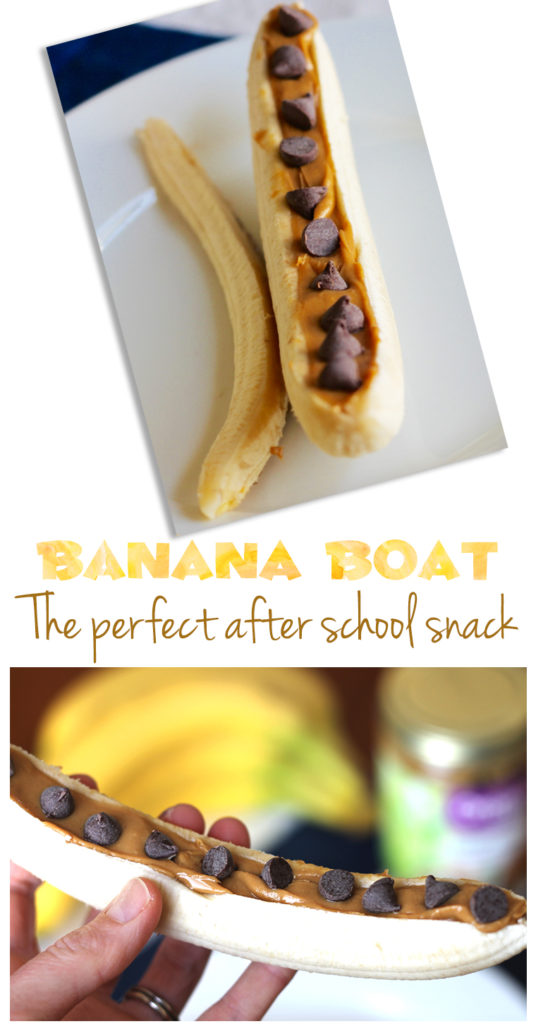 Banana Boat: This old-school snack makes a perfect afternoon treat for kids and mom alike.